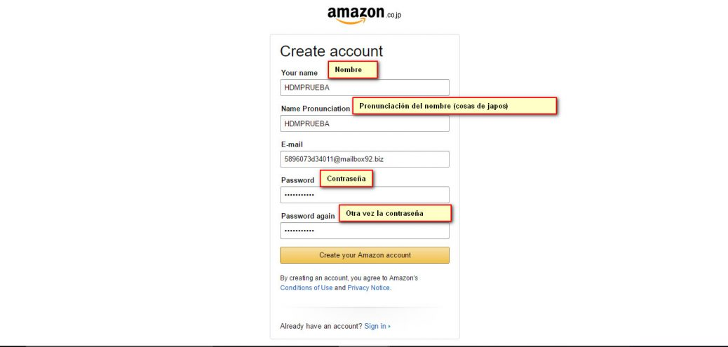 Amazon registro segundo paso