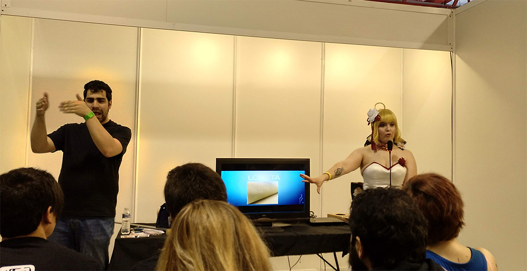 Charla cosplay e interprete